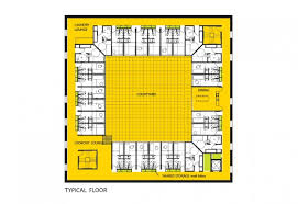 central courtyard house plans room design proposals