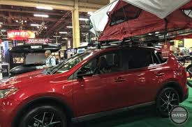 a toyota yakima skyrise rooftop tent puts glam in glamping yakima