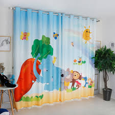 Monkey Curtains Nursery Compare Prices On Animal Kids Curtain Online Shopping Buy Low