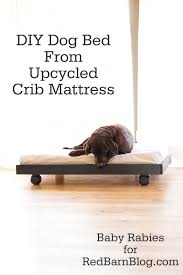 How To Make A Crib Mattress Diy Bed From Upcycled Crib Mattress Clever Pinterest