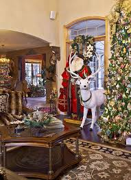 living rooms decorated for christmas christmas decor mediterranean living room chicago by