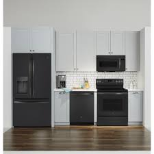 white kitchen cabinets with black slate appliances ge black slate suite all 4 or separate black appliances