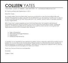 cover letter for technical recruiter position cover letter templates