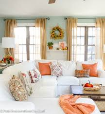 home fall decor pretty orange fall living room tips resource list four