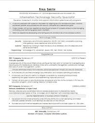 computer resume sample resume for an information security specialist monster com