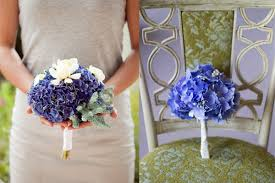 hydrangea wedding bouquet blue hydrangea wedding flowers