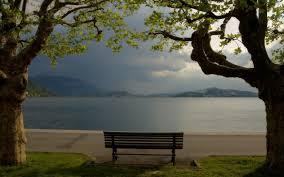 lake think calm bench foot spot tranquil seat mountains lake