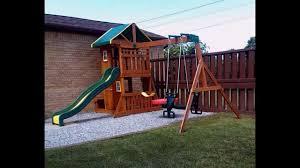 backyard discovery oakmont cedar swing set reversed youtube