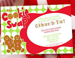 fun color schemes fun cookie swap christmas party invitation with red and green color