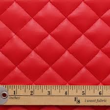 Upholstery Fabric Faux Leather Quilted Leather Faux Leather Diamond Padded Cushion Interior