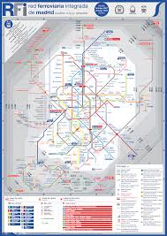 Madrid Metro Map Spain Metro Map Map Travel Holiday Vacations