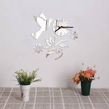 poster k che neue heiße spiegel aufkleber 3d acryl wanduhr dekoration moderne