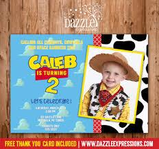 printable toy story inspired birthday photo invitation buzz