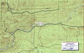 Oak Mountain State Park Trail Map by Ouachita Trail Maps Ouachita Mountains Ok Ar Free Detailed Topos