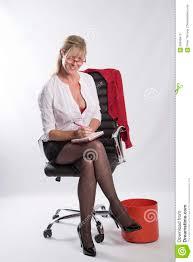 Secretary Desk Chair by Secretary Sat On An Office Chair Stock Photo Image 85848479