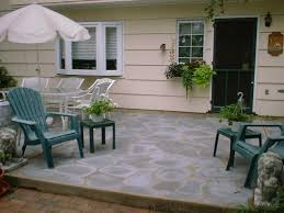 Faux Stone Patio by Painted Concrete Patios