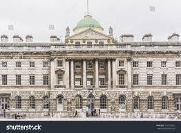 somerset house large neoclassical building design stock photo