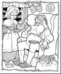 surprising printable christmas coloring pages kids santa