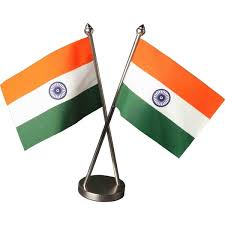 indian cross table flag with stainless steel base and poles flag