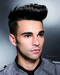 fifties quiff hairstyle for men short clipped sides