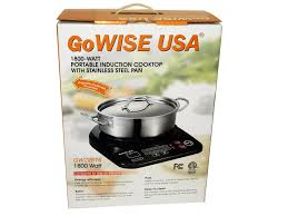 portable induction cooktop with stainless steel pan gw22616