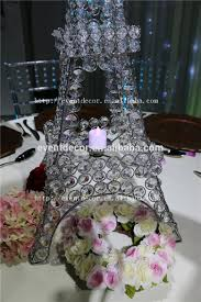 crystal beaded stand eiffel tower candle holder centerpieces for