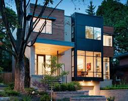 modern home with picture windows wonderful modern home style