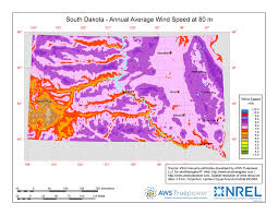 map south dakota windexchange south dakota 80 meter wind resource map
