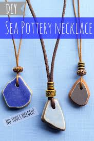cord necklace making images Diy sea pottery necklace with adjustable sliding cord intimate jpg