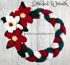 braided christmas wreath 12weekschristmascal week 4 pattern