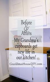 my grandma u0027s cabinets get re purposed into our kitchen