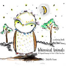 make coloring book whimsical animals coloring book 34 original drawings to color