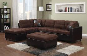 Chocolate Brown Sectional Sofa With Chaise Sale 756 70 Mallory Chocolate Microfiber Vinyl Reversible