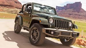 jeep wrangler military style jeep wrangler 75th anniversary edition gets array of new goodies