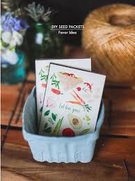 seed packet wedding favors diy seed packets favor idea poppytalk