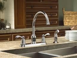 Moen Chrome Kitchen Faucet Moen Traditional Chrome Two Handle High Arc Kitchen Faucet
