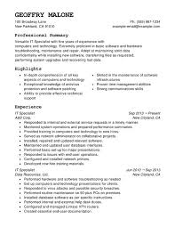 Help Desk Specialist Resume It Specialist Resume Hitecauto Us