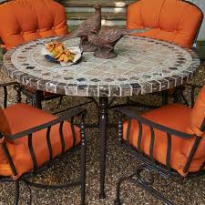 Mosaic Patio Table And Chairs Backyard Patio Ideas Patio Furniture Great Top Patio Table