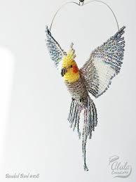 cockatiel a ornament bird window decor bird suncatcher bird