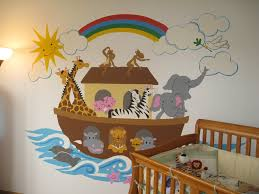 Noah S Ark Crib Bedding Noah S Ark Large Paint By Number Wall Mural Elephants On The Wall