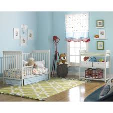 Walmart Nursery Furniture Sets Chocolate Varnished Wooden Crib Mixed Gray Wall Color As Well