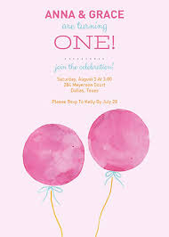 twin first birthday invitations oubly com