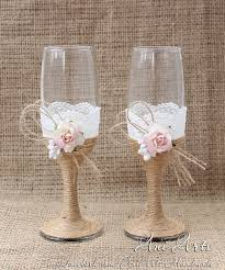 wedding glasses rustic wedding toasting glasses ani arts