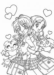 anime coloring pages free manga coloring pages printables