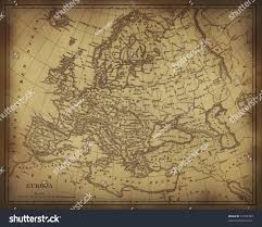 Old Europe Map by Old Ragged Map Europe On Paper Stock Illustration 51790783