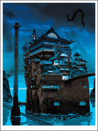super punch glow in the dark poster for the spirited away