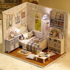 How To Make A Dollhouse Out Of A Bookcase Diy Wooden Miniature Doll House Furniture Toy Miniatura Puzzle