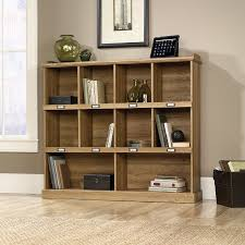 Sauder Bookcase With Glass Doors by Amazon Com Sauder Barrister Lane 53 1 8 X 12 1 8 X 47 1 2 Inch