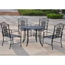 Wrought Iron Patio Furniture by 5 Piece Wrought Iron Patio Furniture