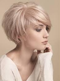 haircut styles longer on sides shorter in back short round layers side swept bangs short hair pinterest